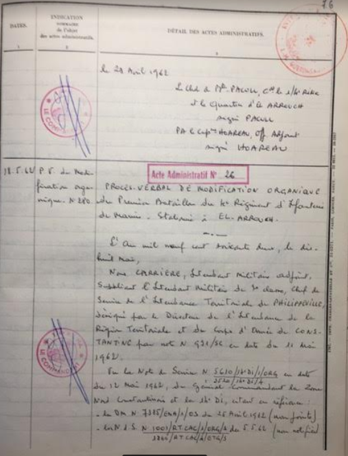 Acte administratif 28 05 1962