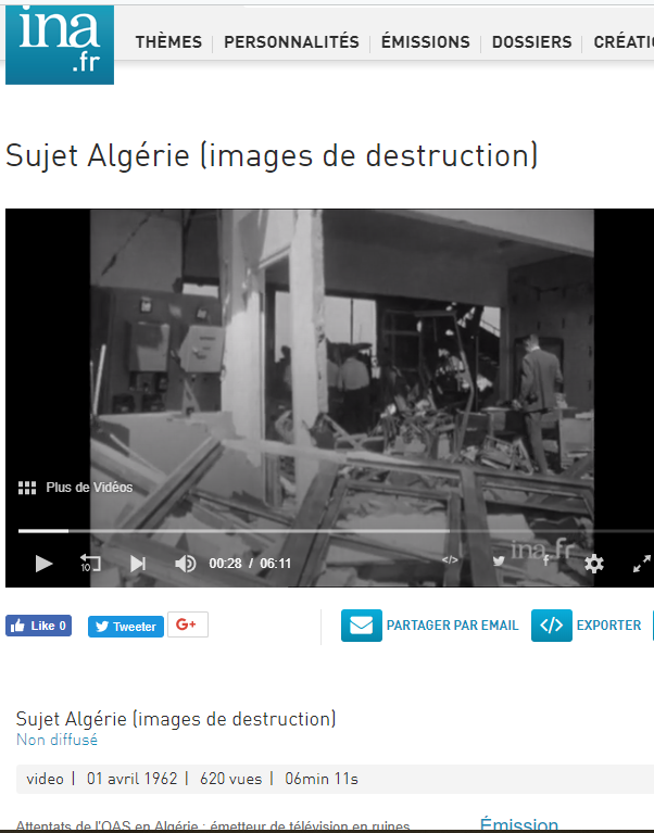 Destructions en algerie