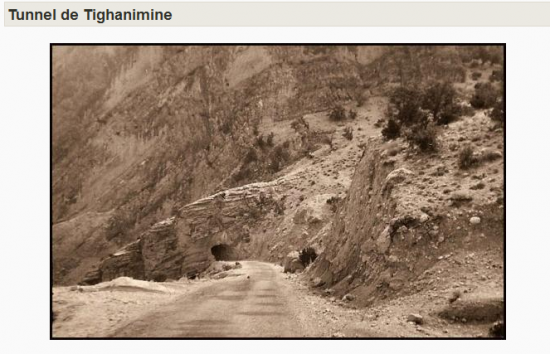 Photo ancienne des gorges de tighanimine