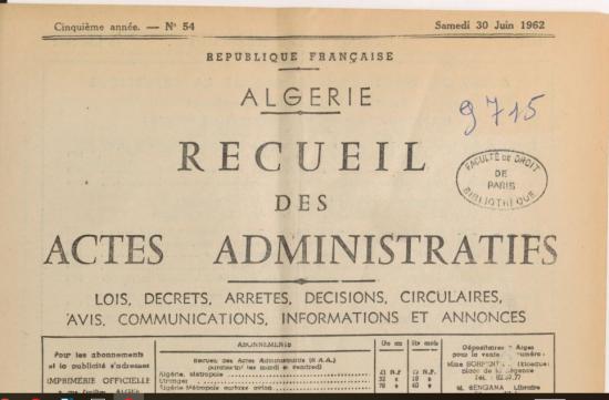 Recueil administratifs