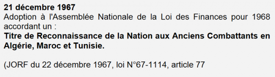 Titre de reconnaissance de la nation